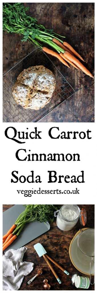 Quick Cinnamon Carrot Soda Bread | Veggie Desserts Blog