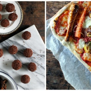 Christmas Leftover Recipes: Christmas Pudding Truffles with Rum and Christmas Leftovers Pizza with Sage Crust