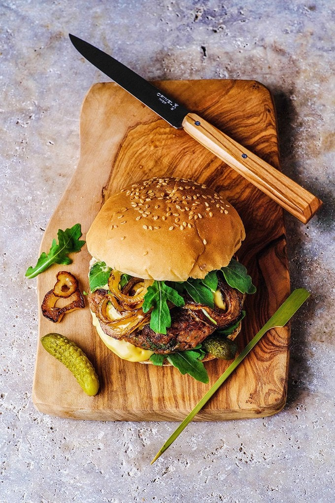 Easy Bean Burger with Mustard Mayo | Vegan in 15