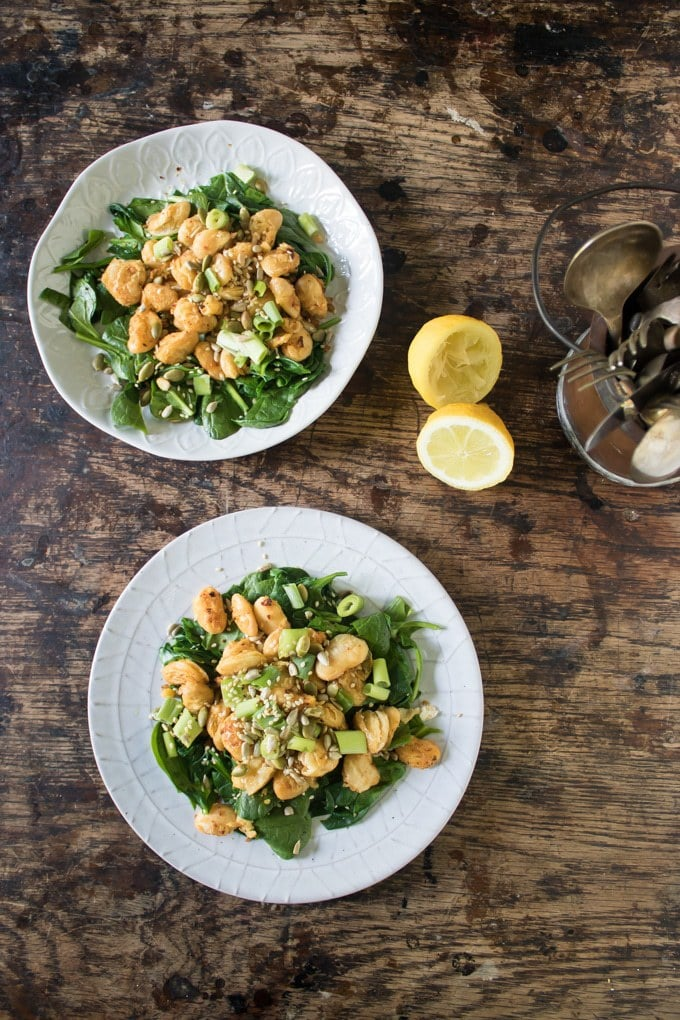 Sauteed Butter Bean Salad with Spinach (Lima Bean) | Veggie Desserts Blog