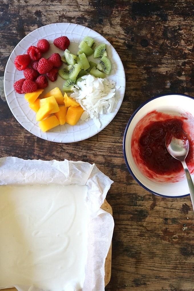 Fruity Frozen Yogurt Bark | Veggie Desserts Blog