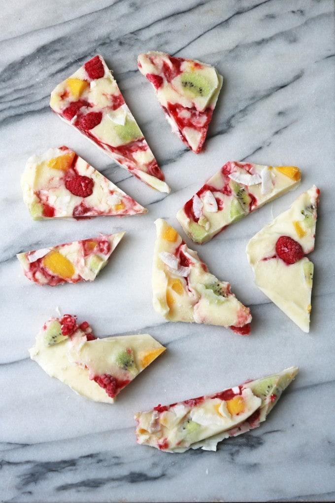 Fruity Frozen Yogurt Bark
