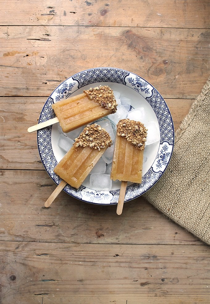 Apple Popsicles with Date Caramel Crumble   Veggie Desserts Blog