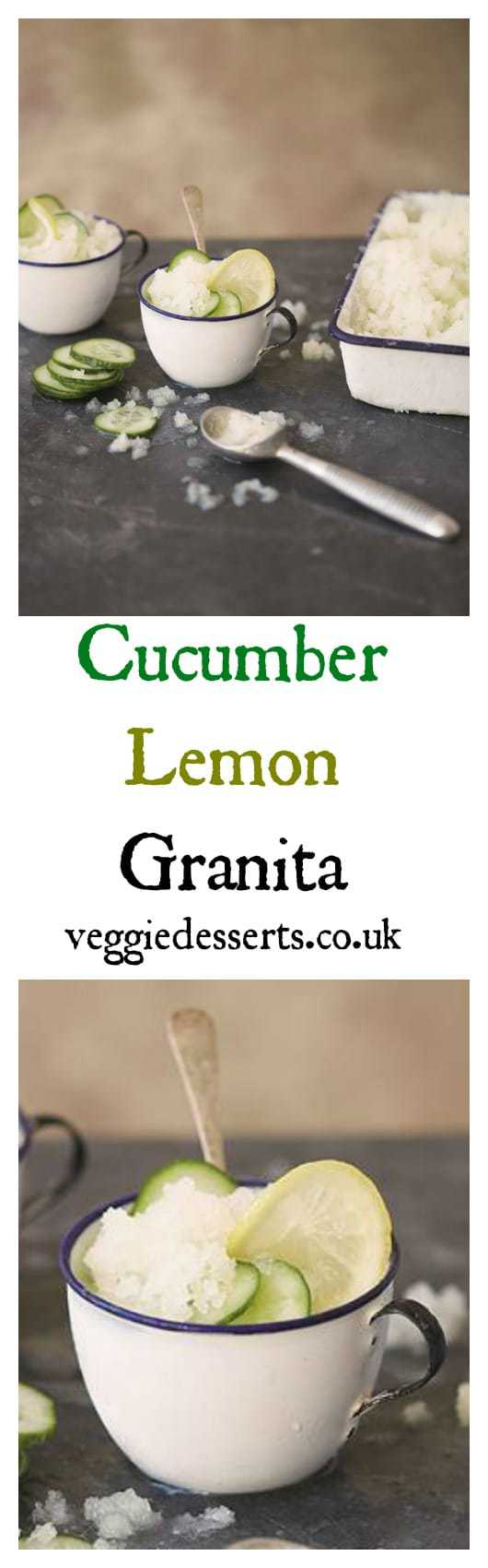 Cucumber Lemon Granita | From Veggie Desserts and Cakes by Kate Hackworthy