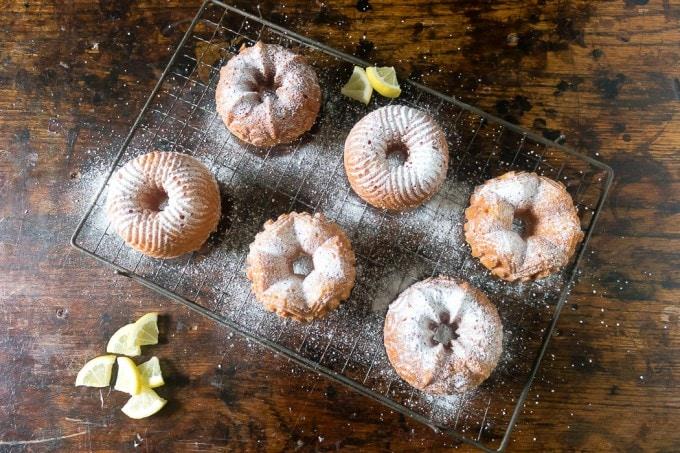 Easy Lemon Mini Babkas (Babeczki ){Wild Honey & Rye Cookbook Review}