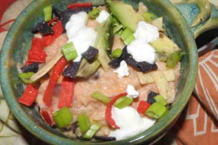 vegetarian Mexican risotto in bowl