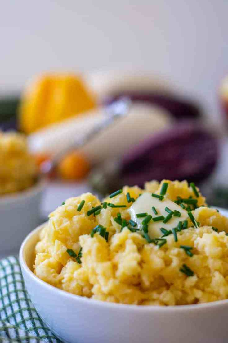 Mashed Rutabaga Recipe with Fresh Chives