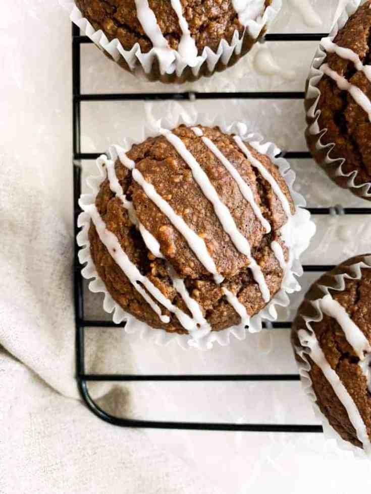 Vegan & Gluten-Free Gingerbread Muffins | Healthy Blender Muffin Recipe