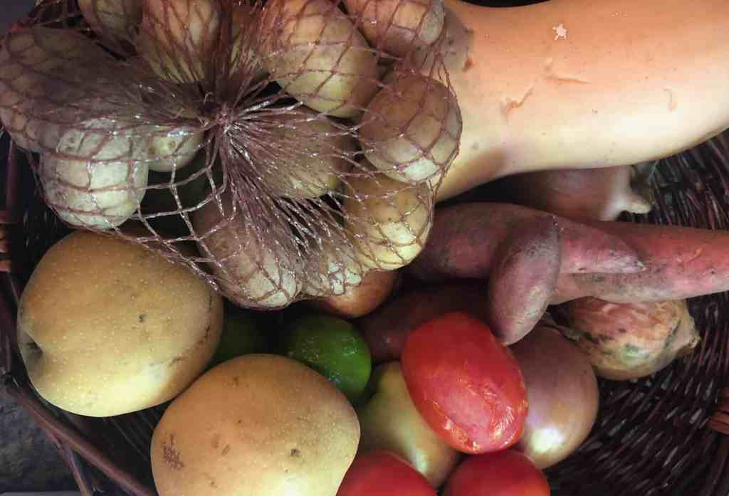 basket of produce from Imperfect Foods grocery delivery