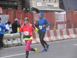 Me running through the 10K mark of the United Airlines NYC Half Marathon - New York, New York