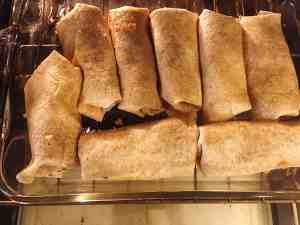 Burritos in Oven