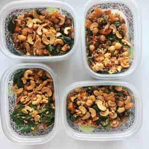 Roasted Cauliflower Salad meal prep