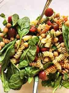 Pasta Salad with Dijon Vinaigrette Tossed