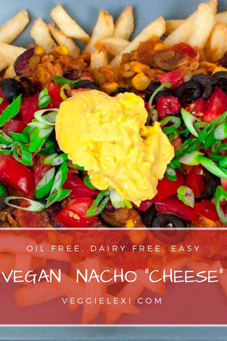 """Chili Cheese Fries with Easy Homemade Oil Free Cashew Nacho """"Cheese"""""""