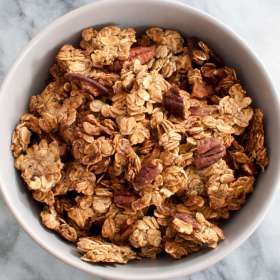 Oil Free Gluten Free Vegan Granola with Pecans