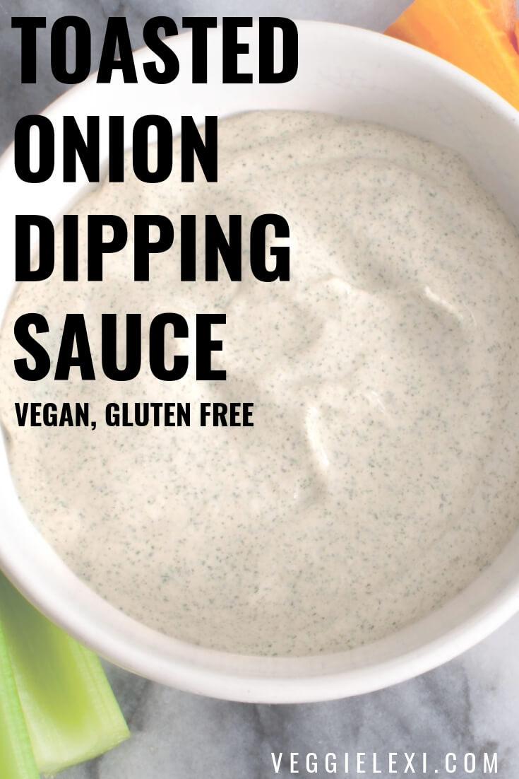 Vegan Onion Dip Dipping Sauce