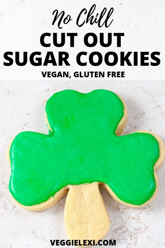 Try these perfect and delicious no chill cut out sugar cookies.  You'd never guess that these yummy cookies are both vegan and gluten free!  Have a blast decorating these with your kids, friends, or loved ones. - by Veggie Lexi