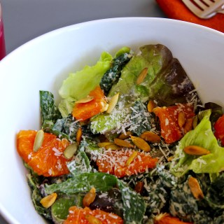 Kale & Red Lettuce Caesar with Cara Cara Orange