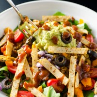 Lentil Taco Salad - Vegan and GF