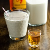 Vegan Eggnog with Cinnamon Whiskey
