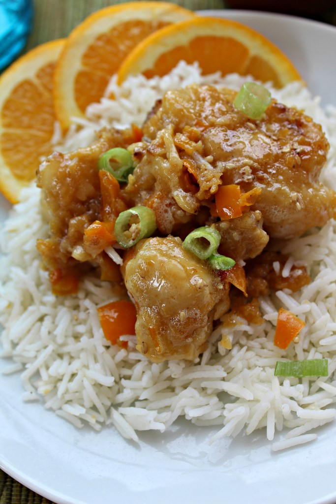 Veggie Panda Express Orange Chicken is a healthy vegan alternative to the popular restaurant version. Cauliflower is the key!