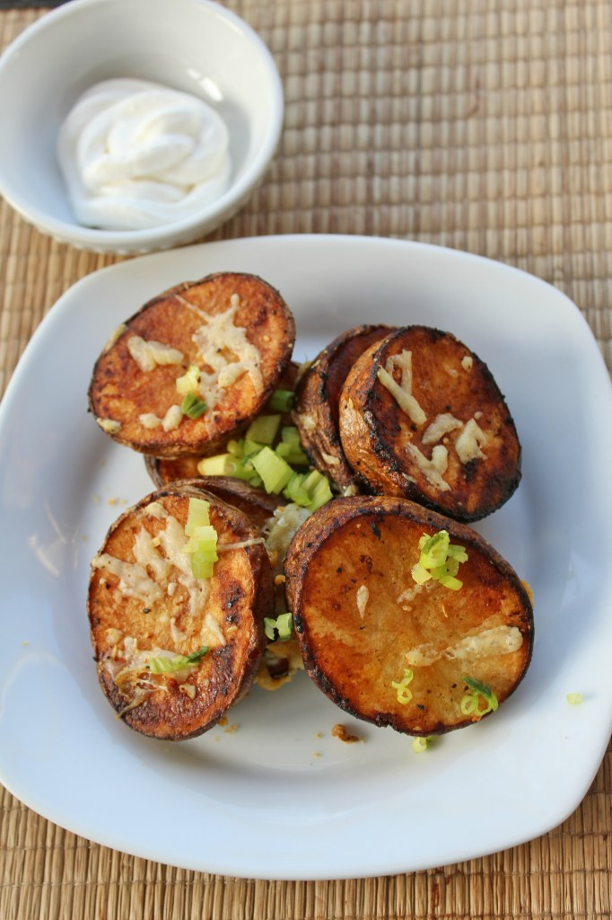 Blackened Manchego Potato Rounds are a damn near perfect combination of crispy and creamy. When they cool down a bit, the texture is still a mouth-watering mix of caramelized flavor and cheesy goodness.