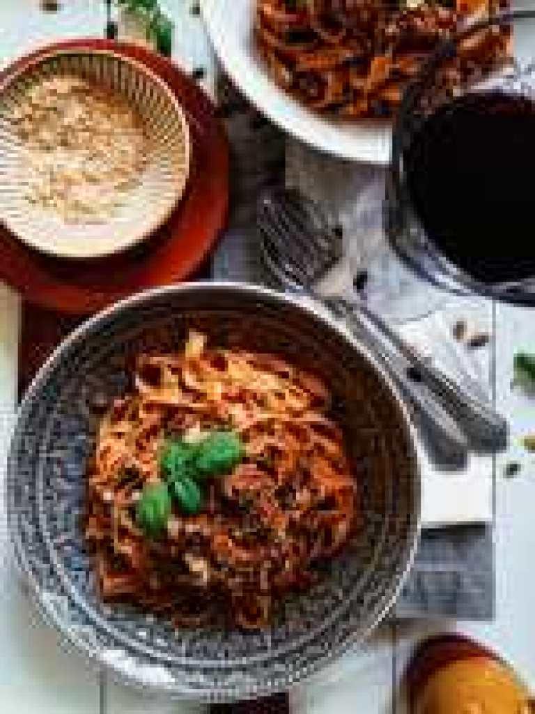 traditionele vegan bolognese