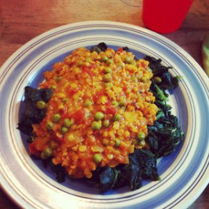 lentils_spinach