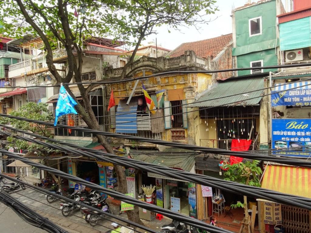 Typical street in Hanoi
