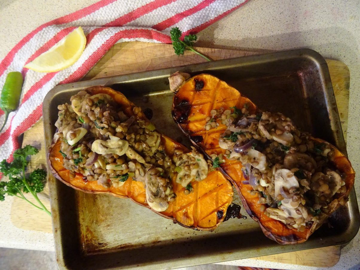 Vegan Baked Butternut Squash Recipe
