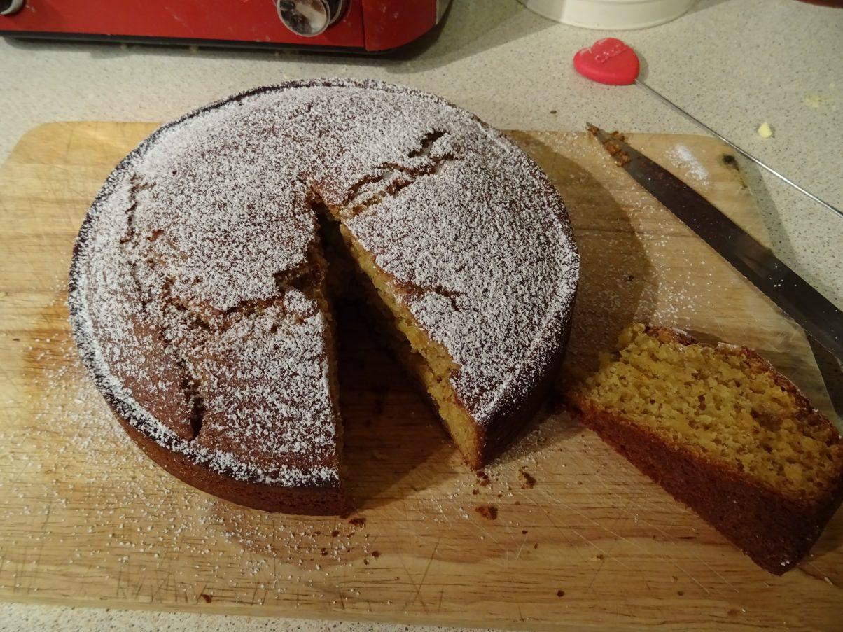 Vegan Portuguese Honey, Almond and Orange Cake