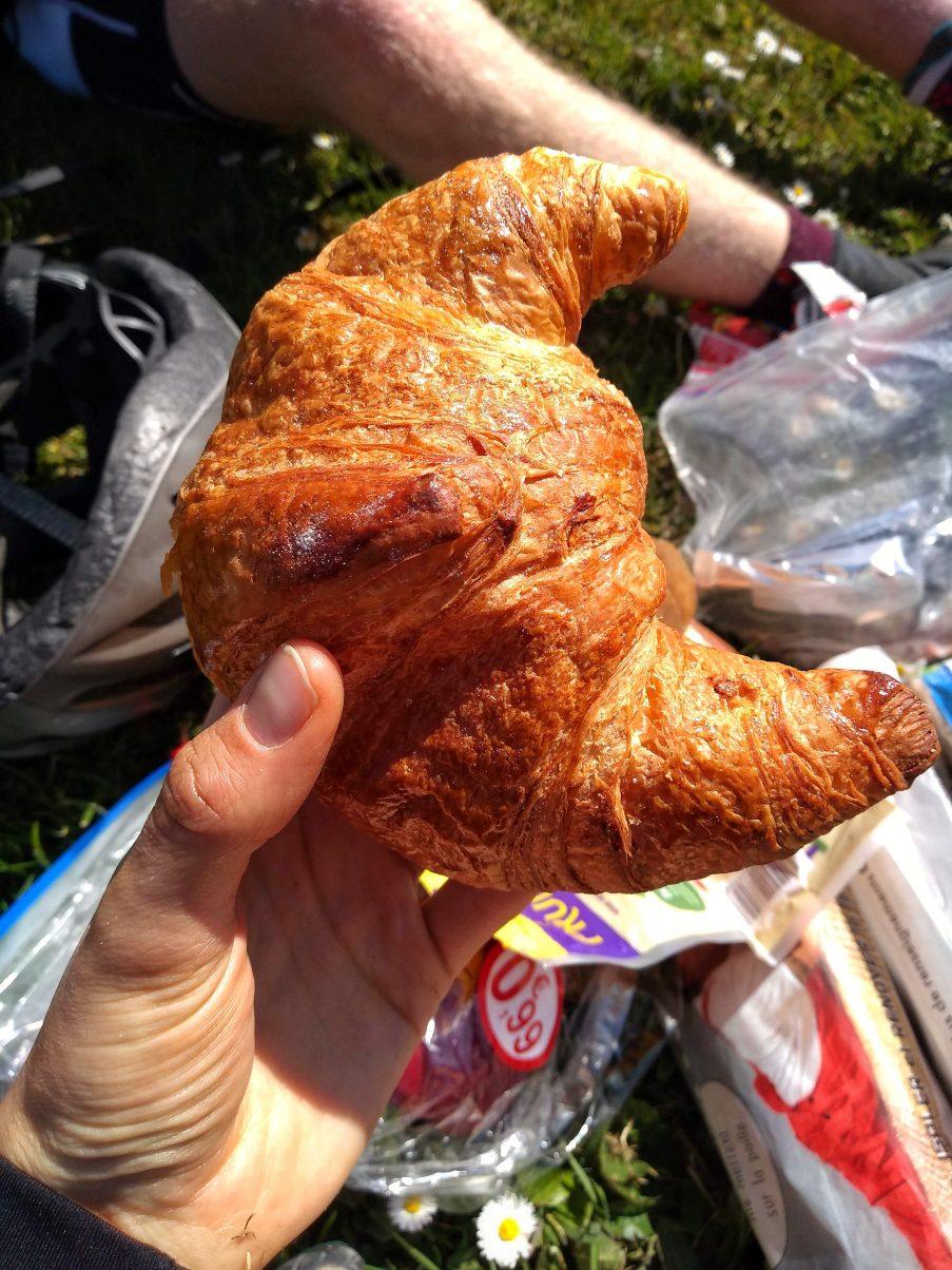 Vegan croissant in France