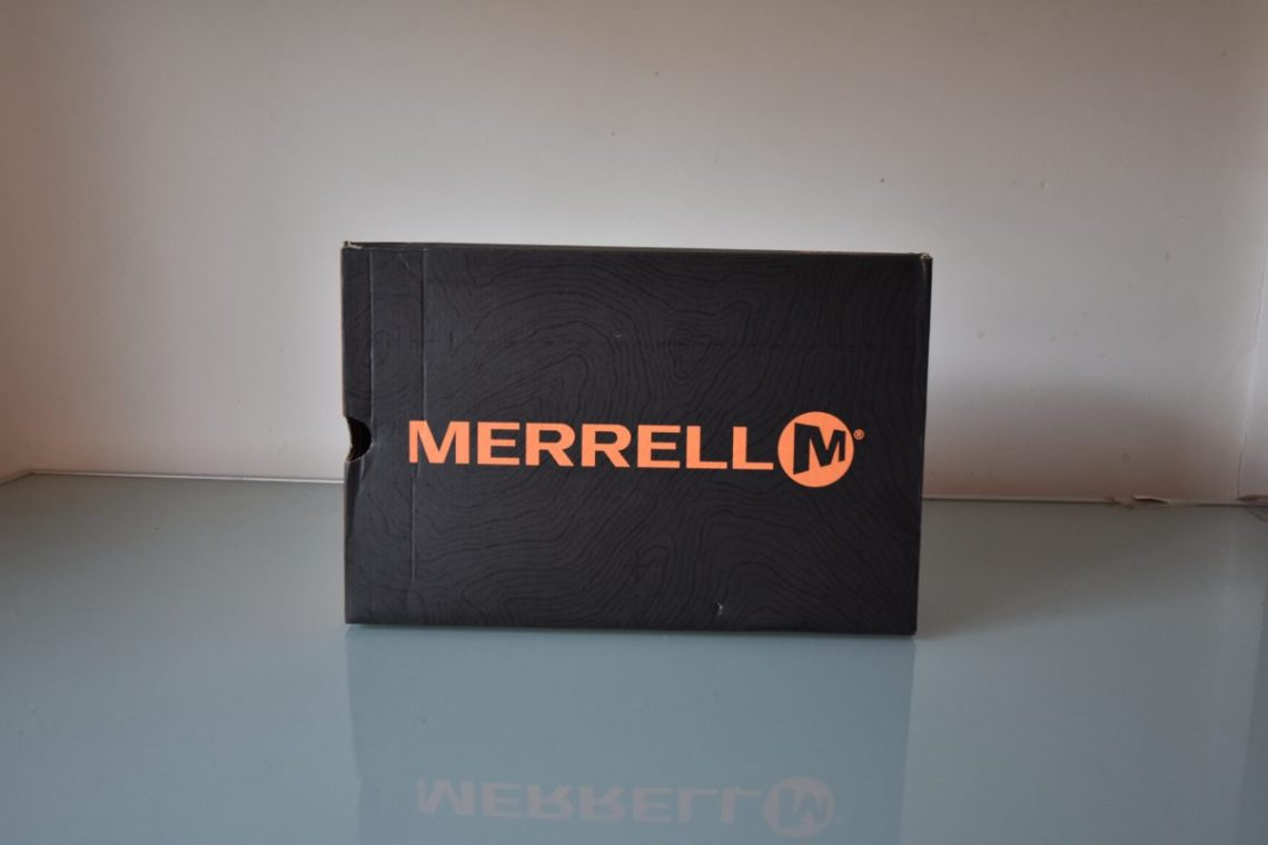 Merrell vegan shoe box