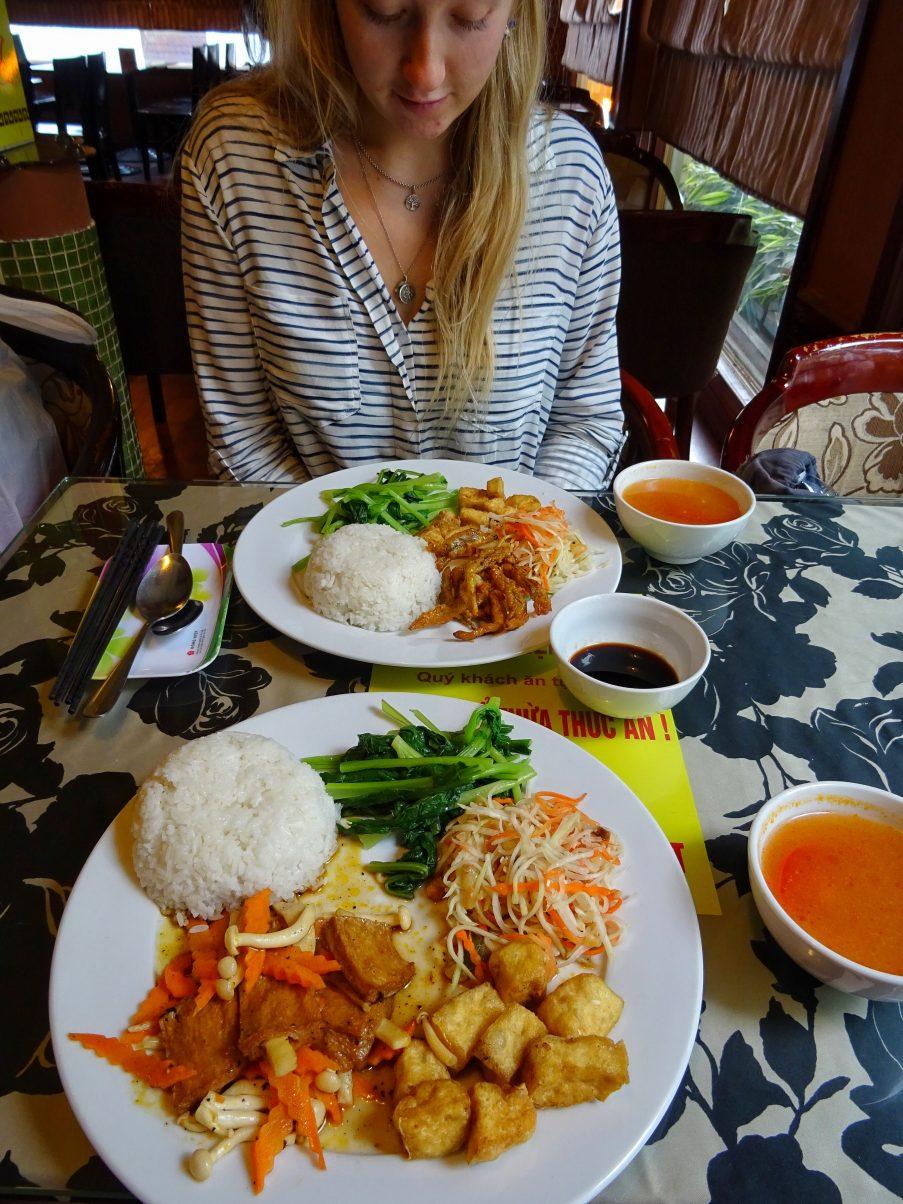 vegan in Vietnam meal