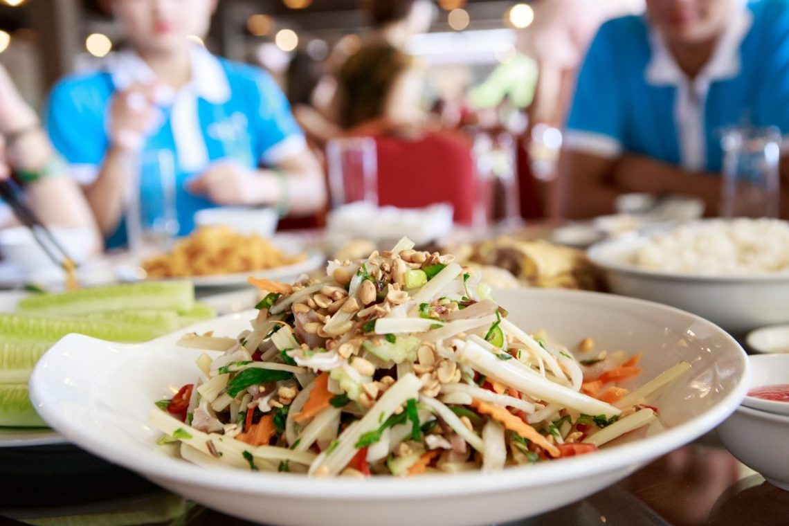 Vietnamese papaya salad