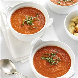 Italian Cold soup with tomatoes