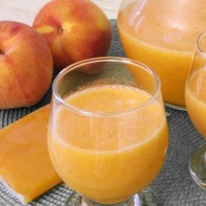 Peach and apricot juice
