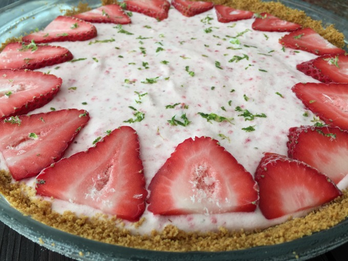 Strawberry Lime Pie