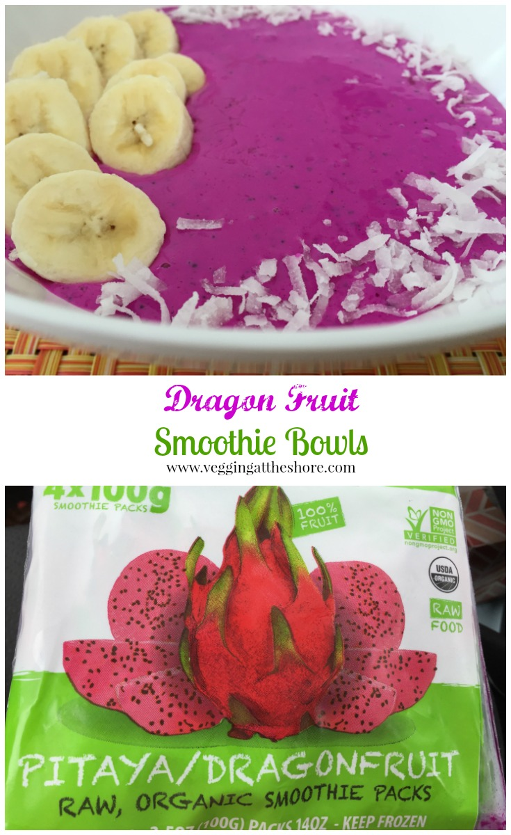 Dragon Fruit Smoothie Bowl - Vegging at the Shore