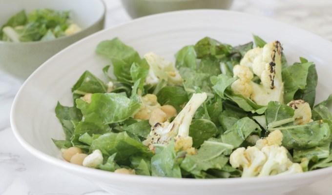 Grilled Cauliflower Salad with Curry Vinaigrette + Comcast Xfinity