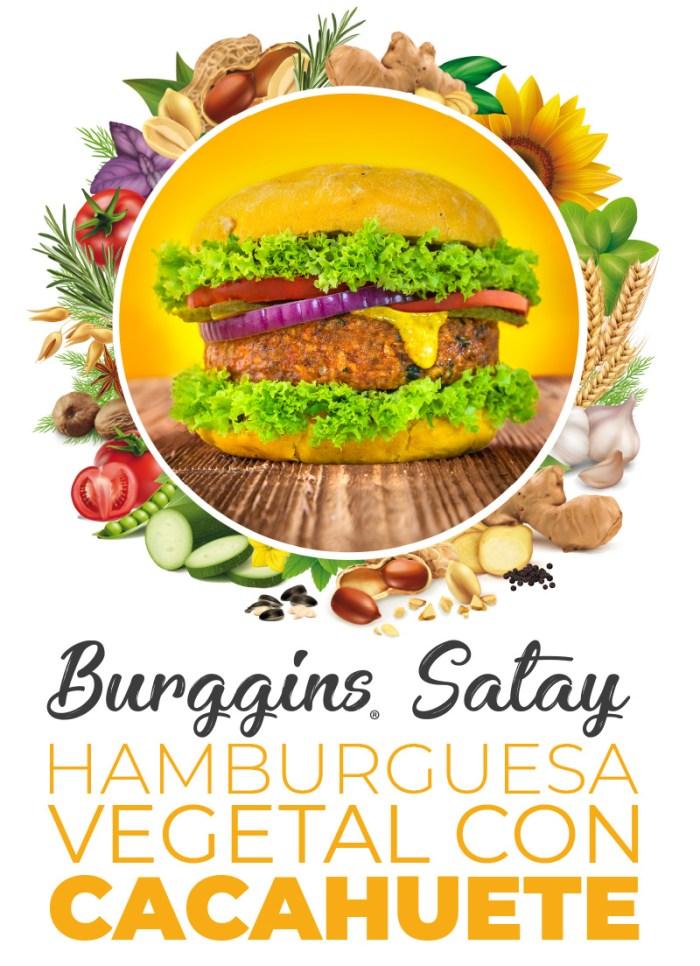 Hamburguesa vegetal con cacahuete Burggins Satay