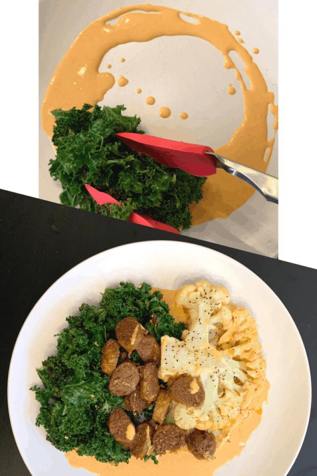 Cauliflower Steak Plating