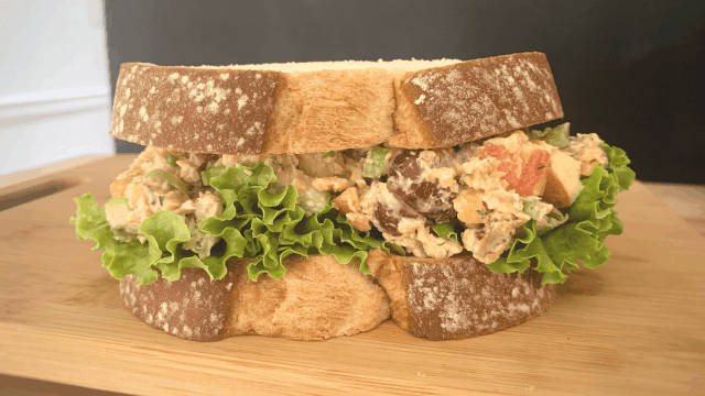 Arbys Copycat Vegan Chicken-Less Pecan Chickpea Salad