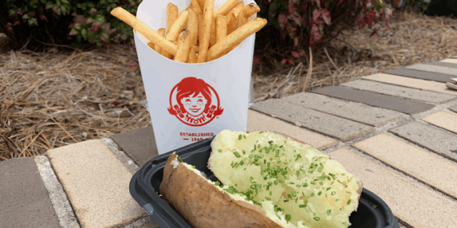 Wendy's Fries and Baked Potato