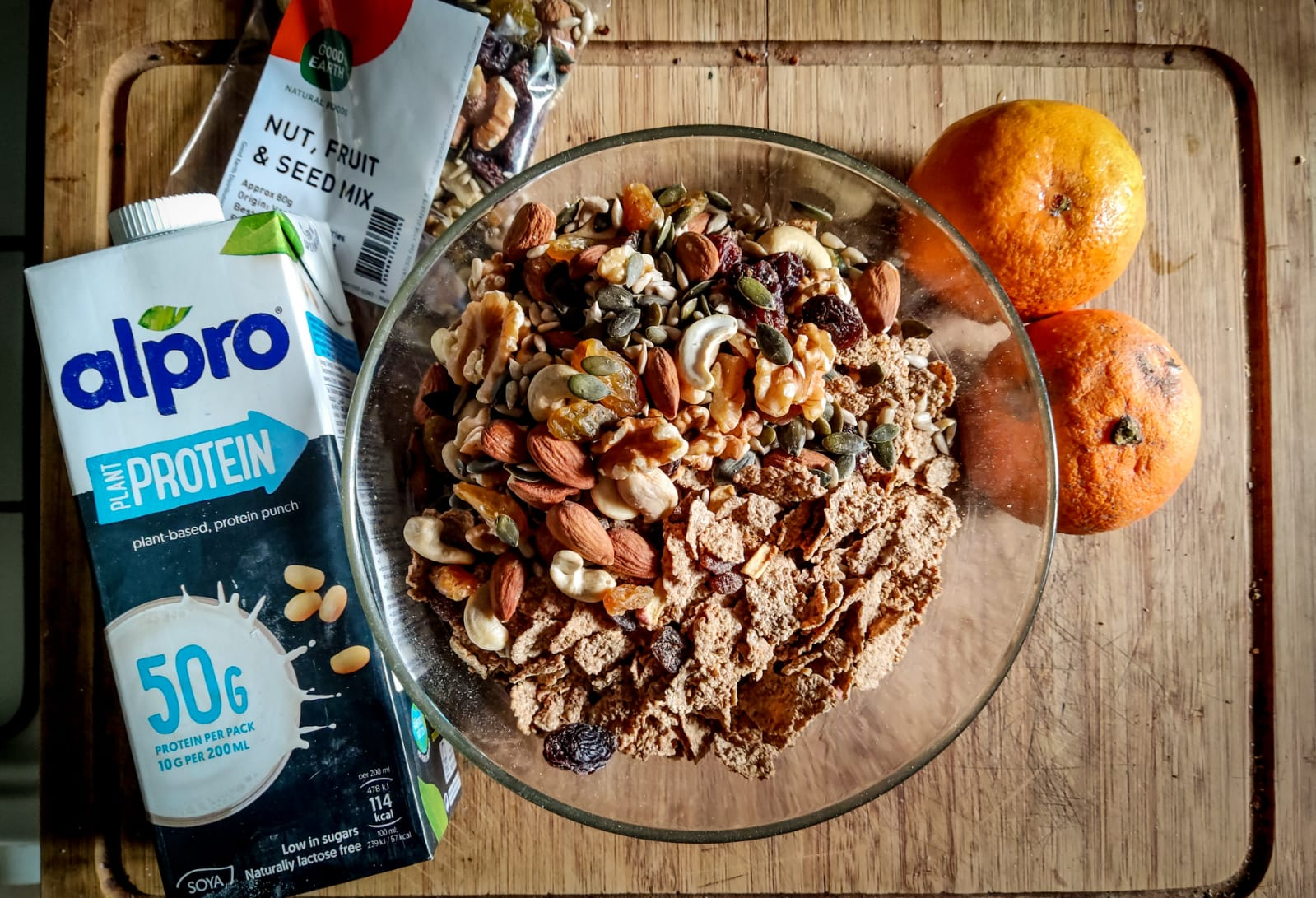 High Fibre Cereal Loaf with alpro protein
