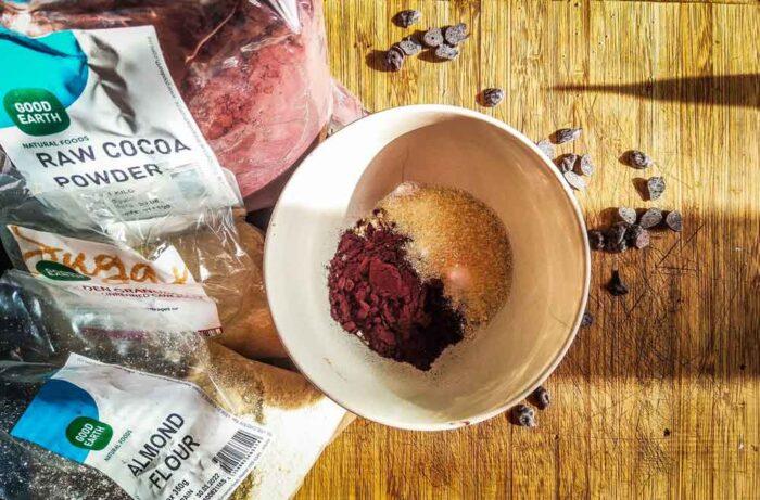 Gluten-Free-Chocolate-Almond-Mug-Cake-ingredients
