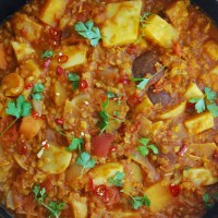 Red Lentil and Root Vegetable Curry
