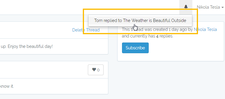 Setup Notifications For Subscribed Users