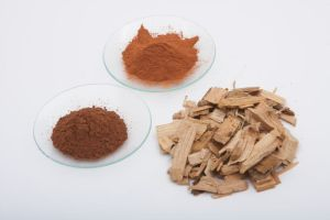 Chestnut and quebracho extracts used in the veg tanning process