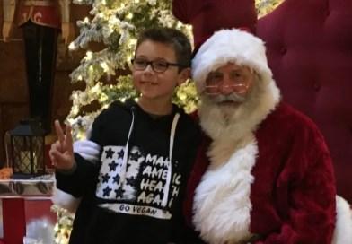 Menino de 9 anos pede para o Papai Noel que todos sejam veganos